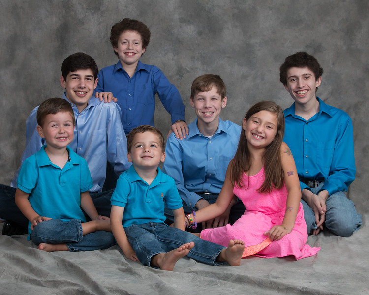 Seven Libman grandchildren (August 2014)