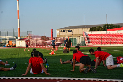 Lincoln Red Imps training before the Celtic match