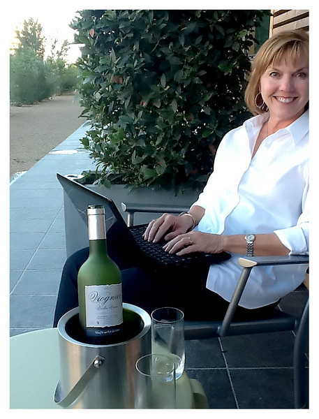 Working on my little travel reports on the terrace of our hotel in Montpellier