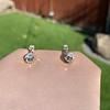 .69ctw Vintage Diamond Double Drop Earrings, French 6