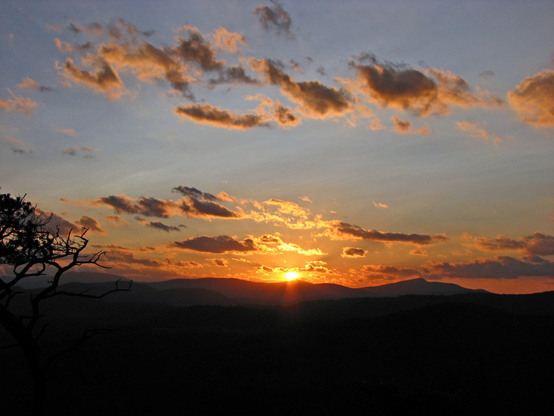 Sunset from Flat Rock near Grandfather Mountain