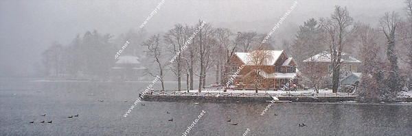 Mill Pond Winter Scene