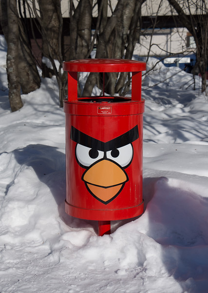 Angry Birds Trash Can