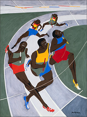"Jacob Lawrence, ""Study for Munich Olympics"" (1971)"