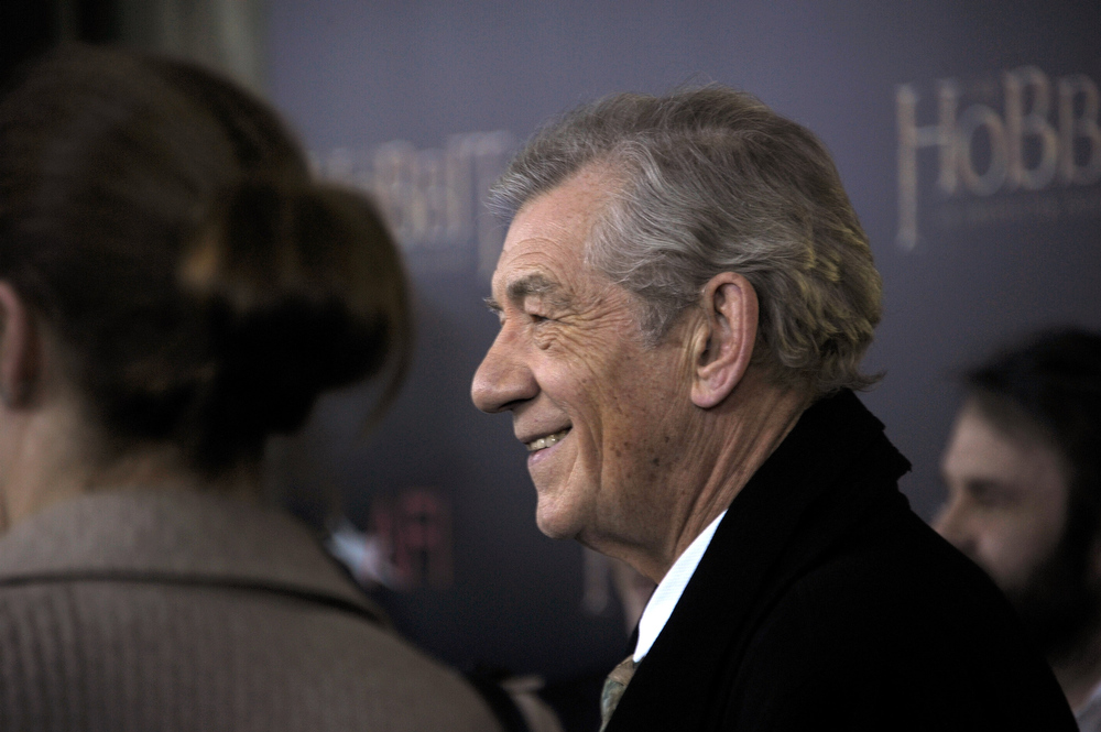 ". Sir Ian McKellen attends ""The Hobbit: An Unexpected Journey\"" New York premiere benefiting AFI at Ziegfeld Theater on December 6, 2012 in New York City.  (Photo by Michael Loccisano/Getty Images)"