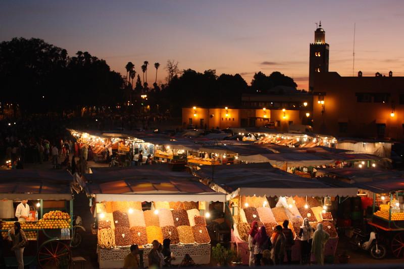 Night Market; Marrakech