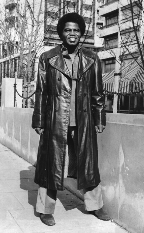 . 10th March 1971:  Funk front man and self-professed godfather of soul, Mr James Brown.  (Photo by Evening Standard/Getty Images)
