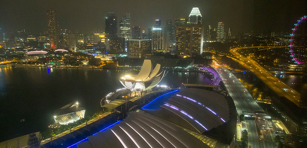 Singapore Marina Sands Hotel & view from room