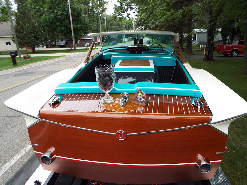 Another view of the awards won by the  1961 Continental Hardtop. The awards were won at the Port Huron International boat show in September of 2018.