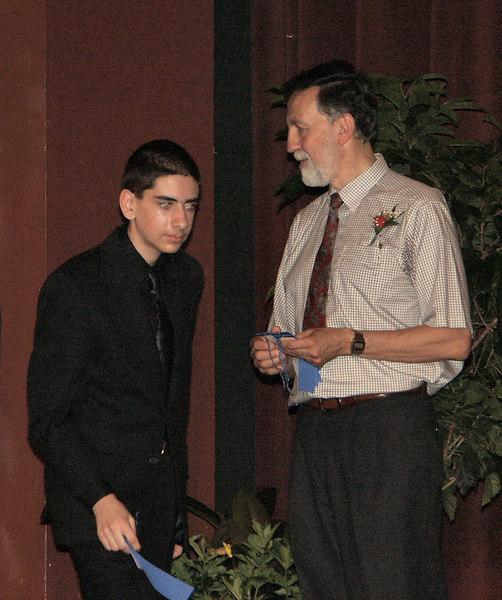 Ben gets math team award   (Jun 19, 2003, 06:30pm)