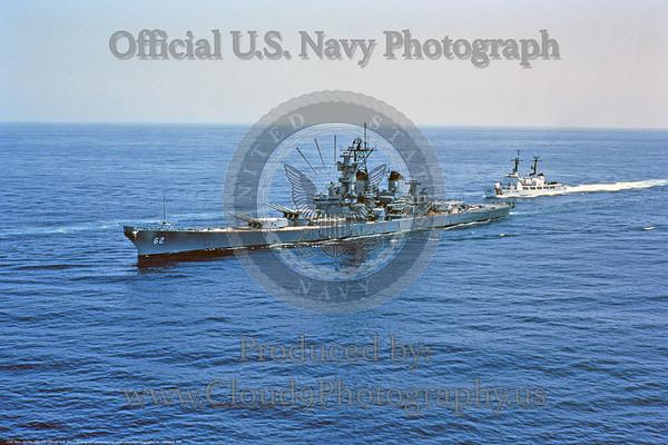 U.S. Navy USS  New Jersey (BB-62) World War II Era Fast Super Battleship Warship Pictures