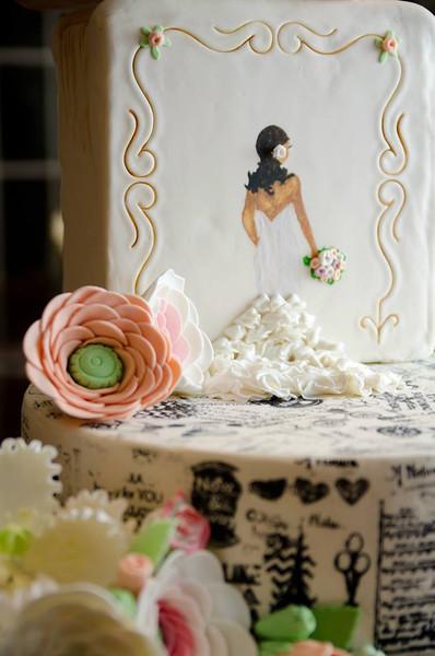 R & M Wedding cake