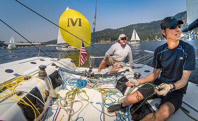 Lake Pend Oreille, Saturday Morning  Race