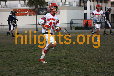 JV Boys Lacrosse 3-8