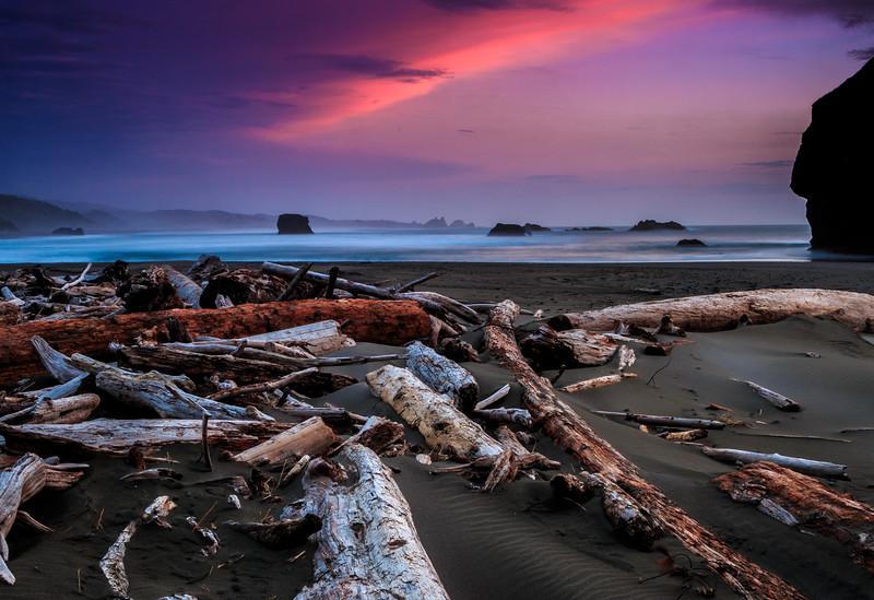 Sunset on Gold Beach