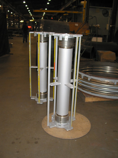 Universal expansion joints ready for inspection