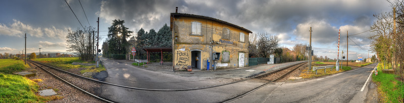 Train Station - Pratissolo, Scandiano, Reggio Emilia, Italy - December 2, 2012