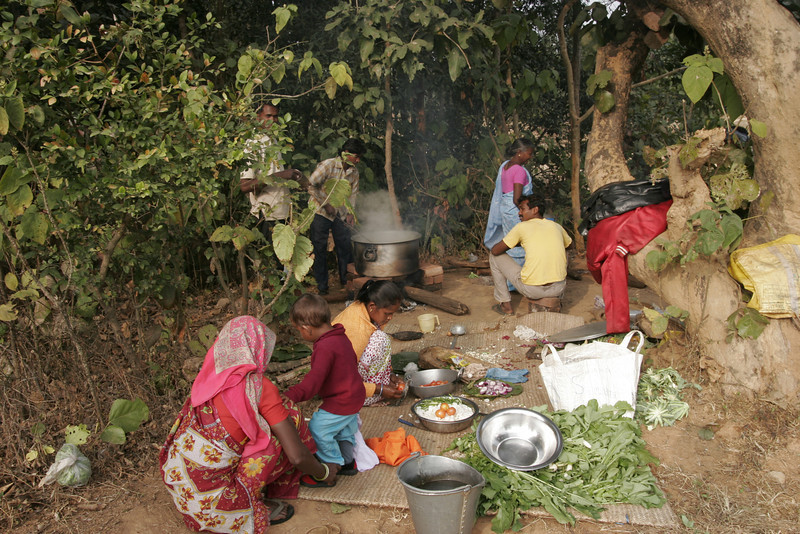 Food preparation, Jharkhand, Ranchi, India