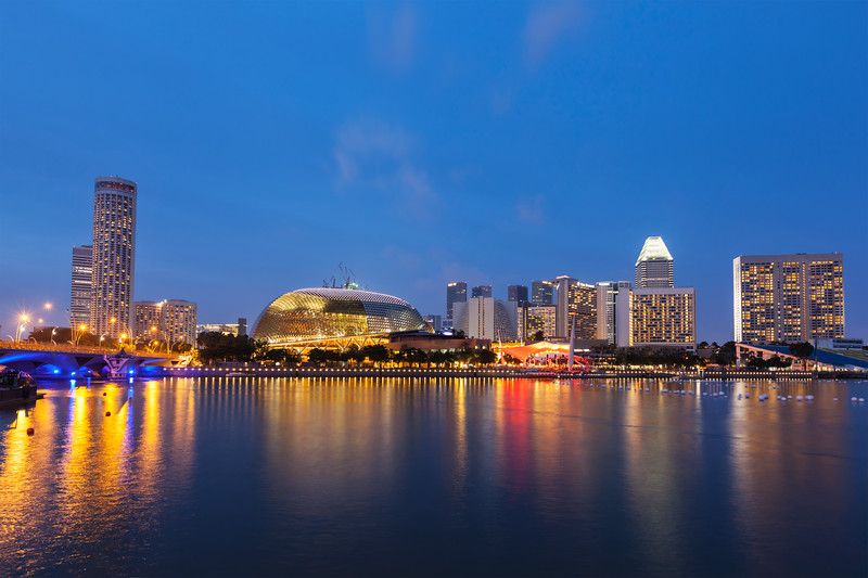 Singapore cityscape night