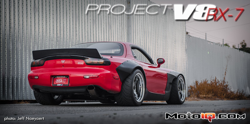 Project V8 RX-7 SSR SP4 Professor Wheels Stoptech trophy brakes toyo r888 tires