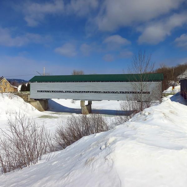 Covered bridge near parc national du fjord du Saguenay