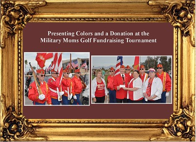 3-25-18 Presenting Colors and a Donation to Military Moms