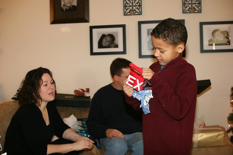 Edward opens his watch from Nana & Granddad