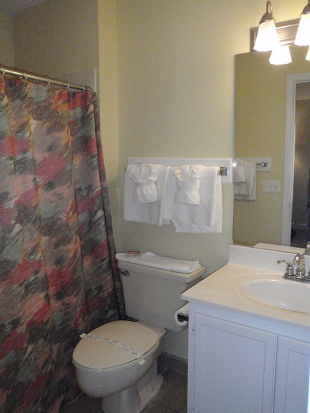 There are 3 baths in this unit! One for each of us! Yay!