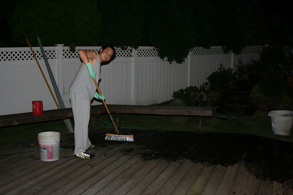 Staining deck 8/09