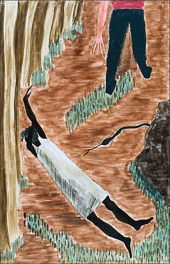 """Jacob Lawrence, """"The Life of Harriet Tubman No. 5"""" (1940)"""
