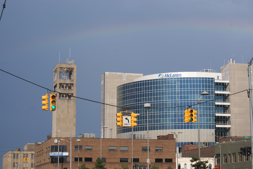 . A rainbow appeared in the skies after a July 19 thunderstorm which traveled through Pontiac and surrounding areas.