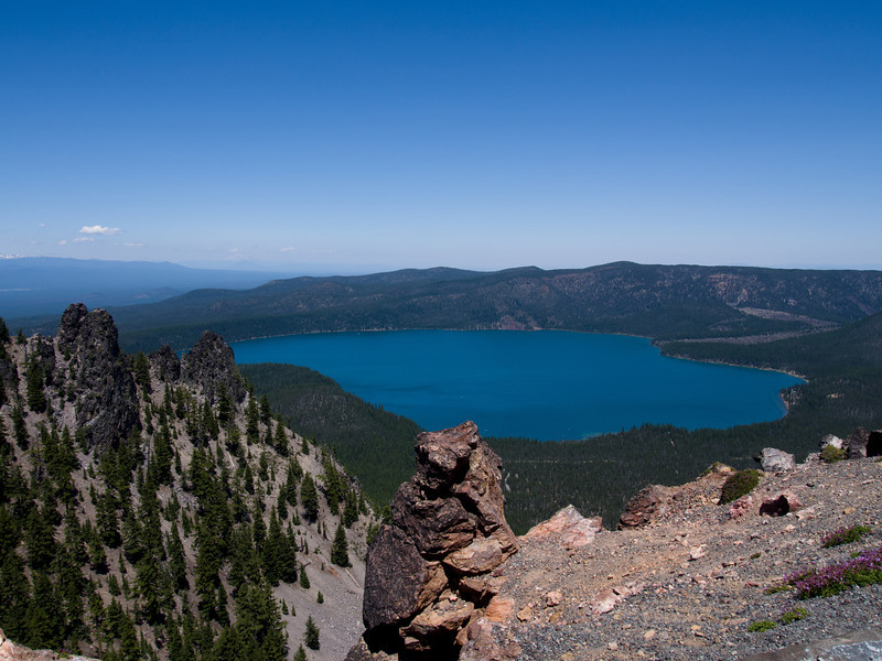 We then drove up to the top of Paulina Peak.  This is one of the 2 lakes in Newberry Caldera.