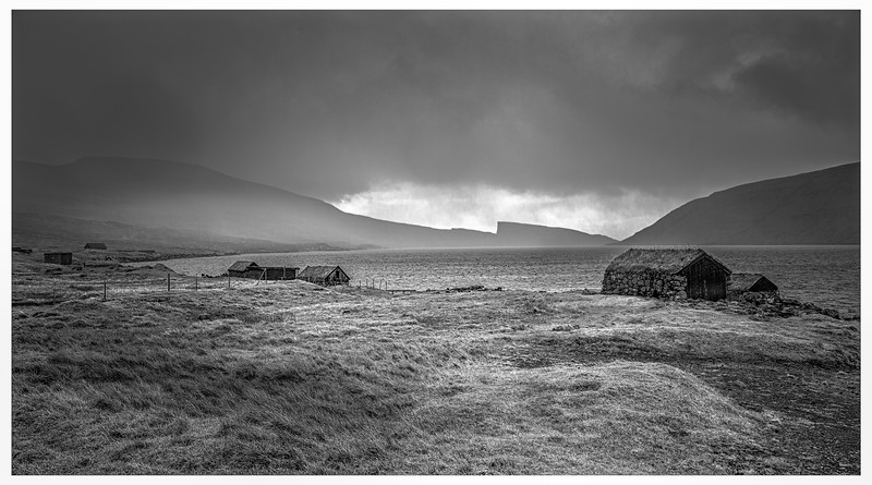 Faroe Shelters    Black and White Photography by Wayne Heim