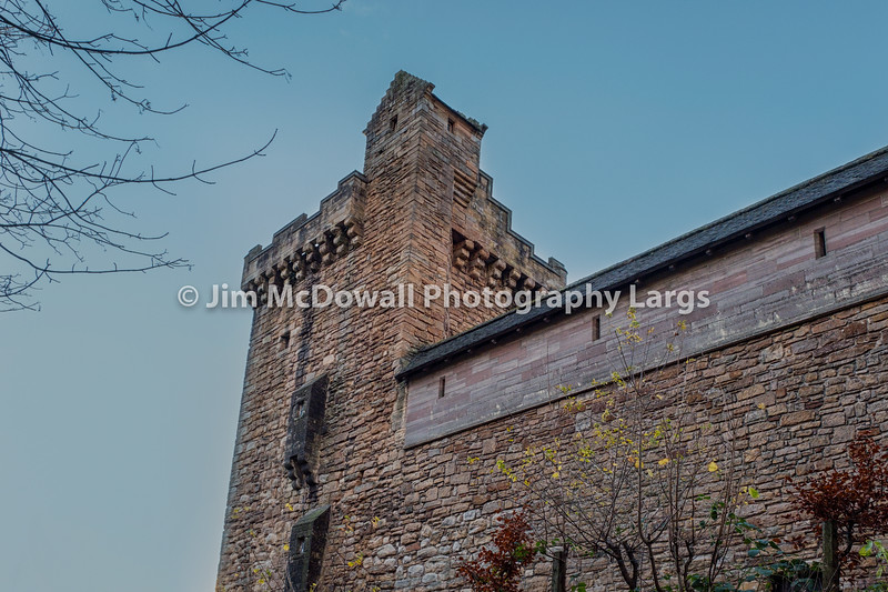 Majestic Buildings of Dean castle in East Ayrshire Kilmarnock Scotland.