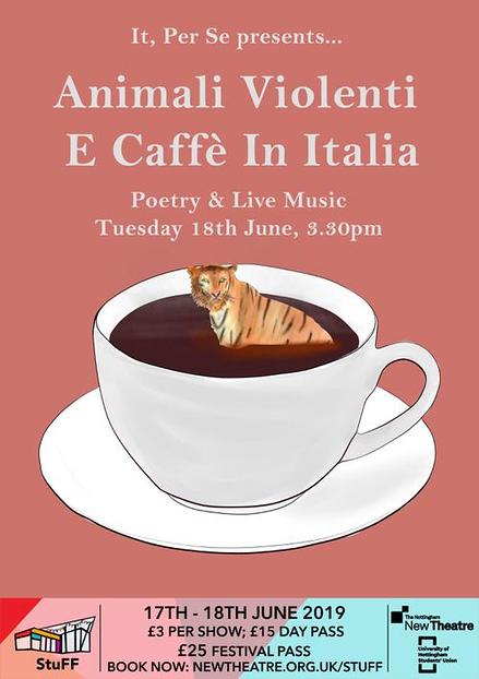 Animali Violenti E Caffé In Italia poster
