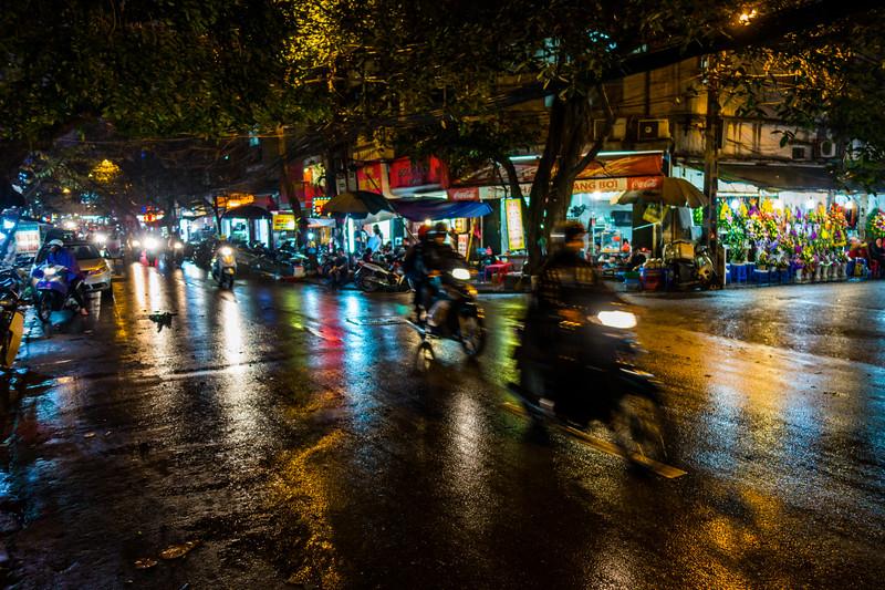 Rainy Street, Hanoi, Vietnam