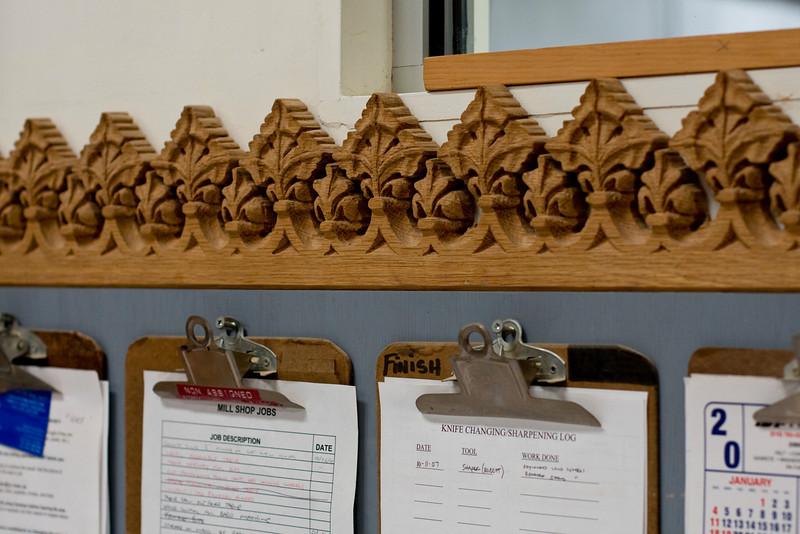 Even the workstation sported craftsman level woodworking.