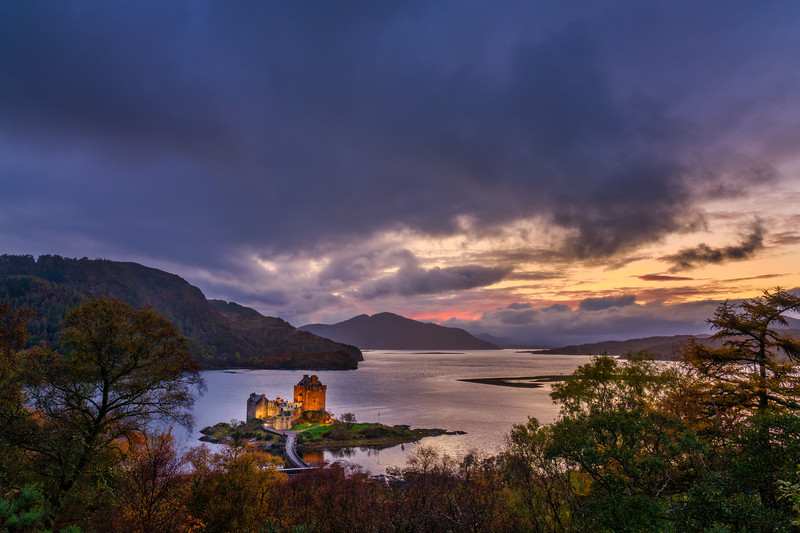 Eilean Donan Castle and Sunset Sky