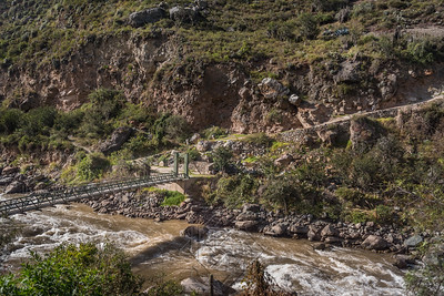 Bridge across the Urubamba River