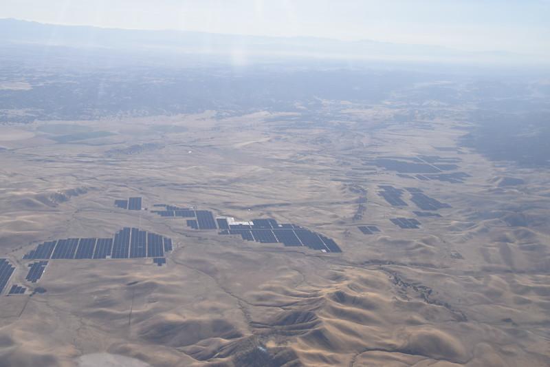Solar farm near Parkfield