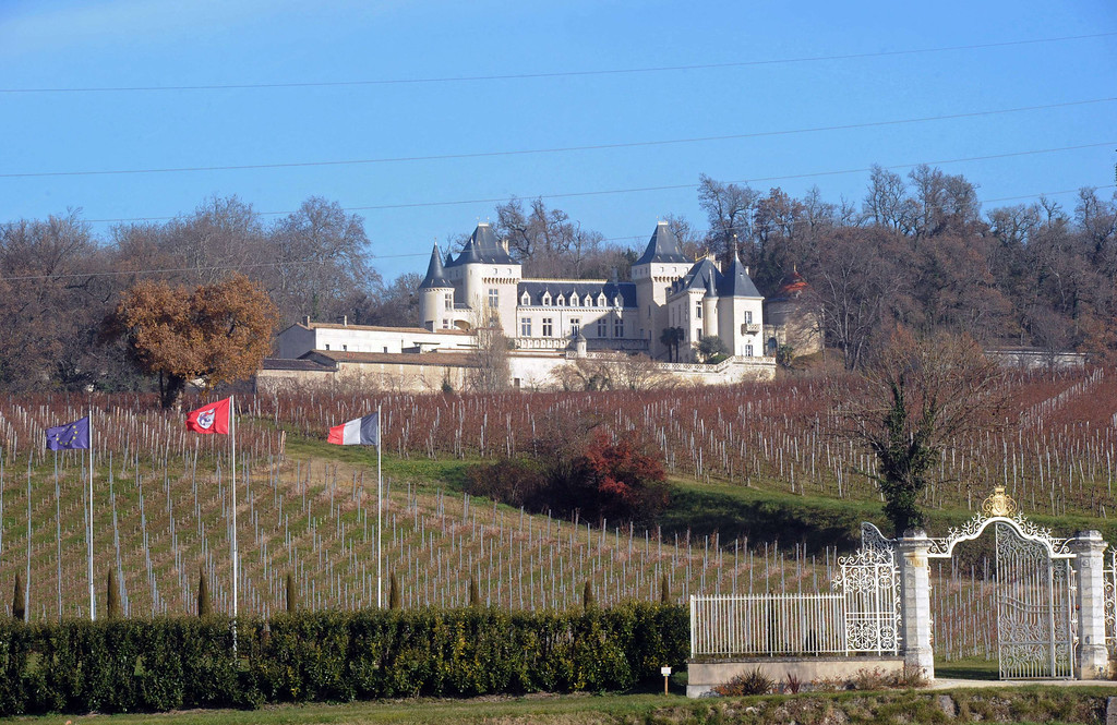 . A view taken on December 23, 2013 shows the Bordeaux chateau estate of La Riviere. French police launched today a delicate operation to lift a helicopter from a river bed for clues into a crash that is thought to have killed a Chinese tycoon and a French winemaker. Efforts to find the remains of Lam Kok, a 46-year-old Chinese tea-and-property magnate, his interpreter and financial advisor, Peng Wang, and James Gregoire, a French entrepreneur and the pilot of the helicopter, have been ongoing since December 20, when the aircraft fell into the Dordogne river. The crash occurred while they had been on a celebratory aerial tour of a chateau estate that the Chinese businessman had just bought from Gregoire.    AFP PHOTO / MEHDI FEDOUACHMEHDI FEDOUACH/AFP/Getty Images