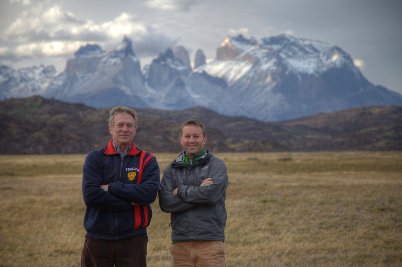A father-son shot in Torres del Paine National Park, Chile. (HDR)