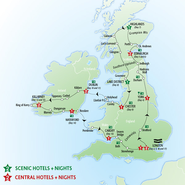 Insight Vacations Tour Map