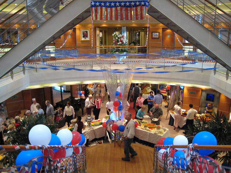July 4th celebration on the ship