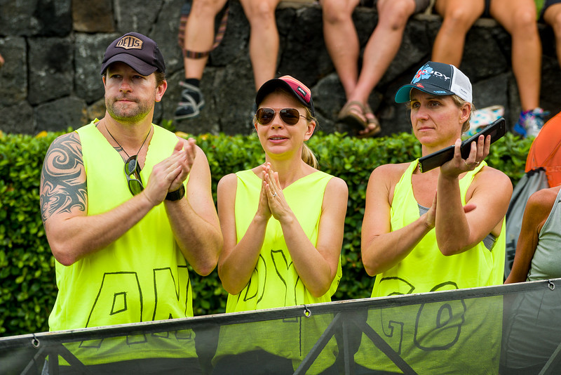 """Support team for """"Andy"""" at 2018 Kona Triathlon"""