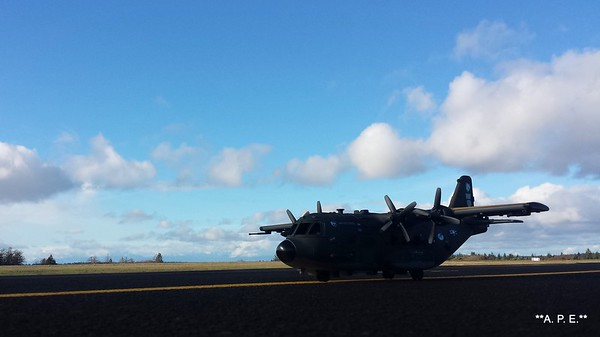 C-130 AT THE AIRFIELD
