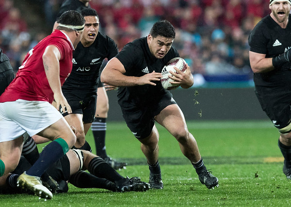 Codie Taylor   during game 9 of the British and Irish Lions 2017 Tour of New Zealand, the second Test match between  The All Blacks and British and Irish Lions, Westpac Stadium, Wellington, Saturday 1st July 2017 (Photo by Kevin Booth Steve Haag Sports)  Images for social media must have consent from Steve Haag