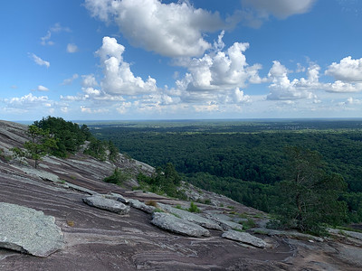 Walking Up the back of Stone Mountain