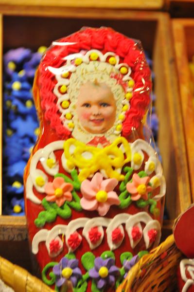 unusual gingerbread cookie in Radovljica bakery