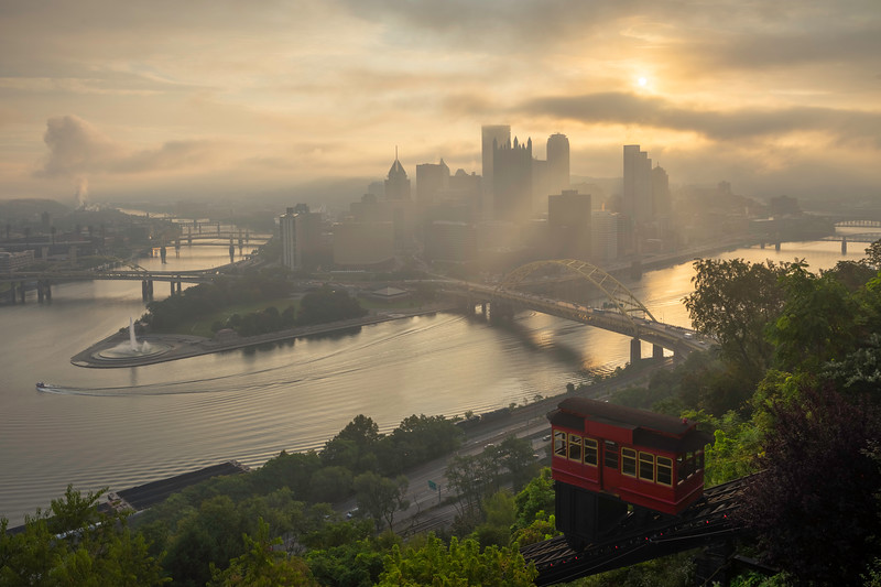 """Mood on the Mountain"" - Pittsburgh, Mt. Washington   Recommended Print sizes*:  4x6  